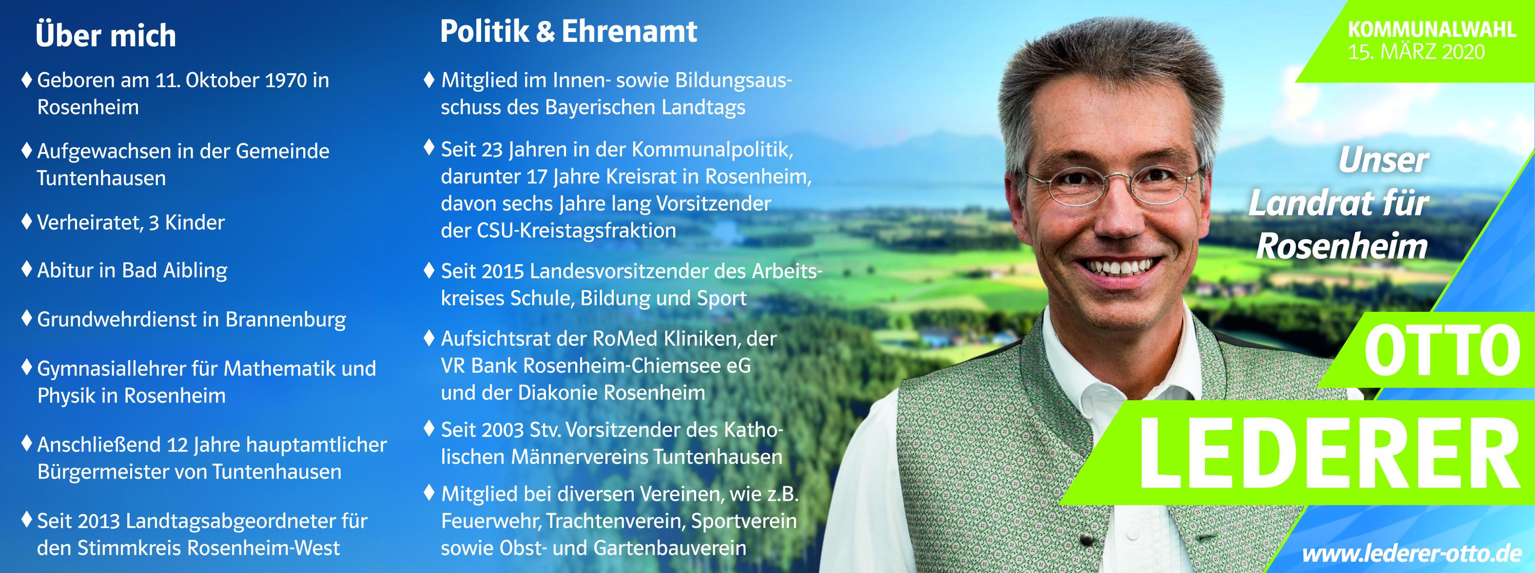 Landratskandidat Otto Lederer