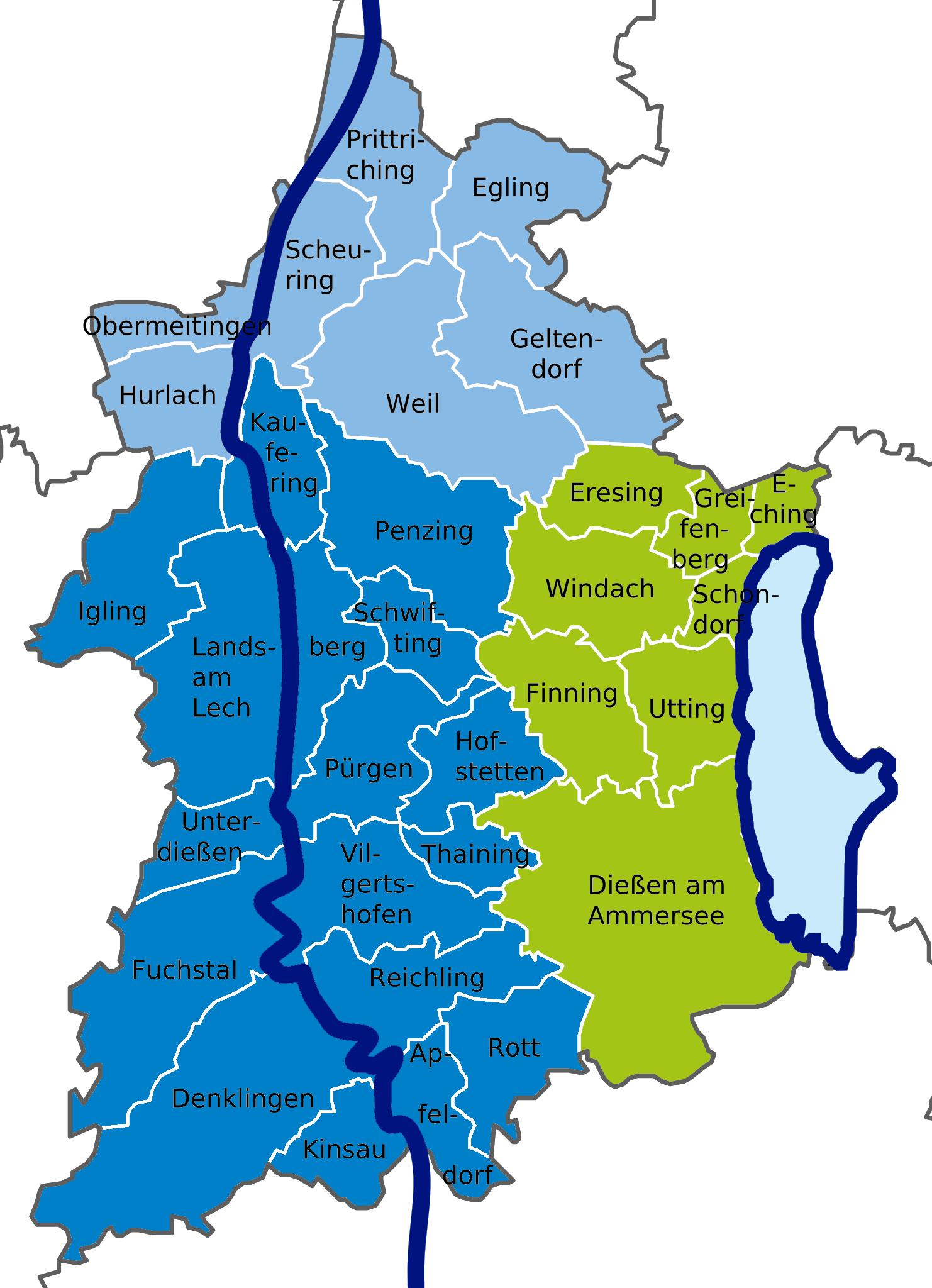 JU-Verbände im Kreis Landsberg