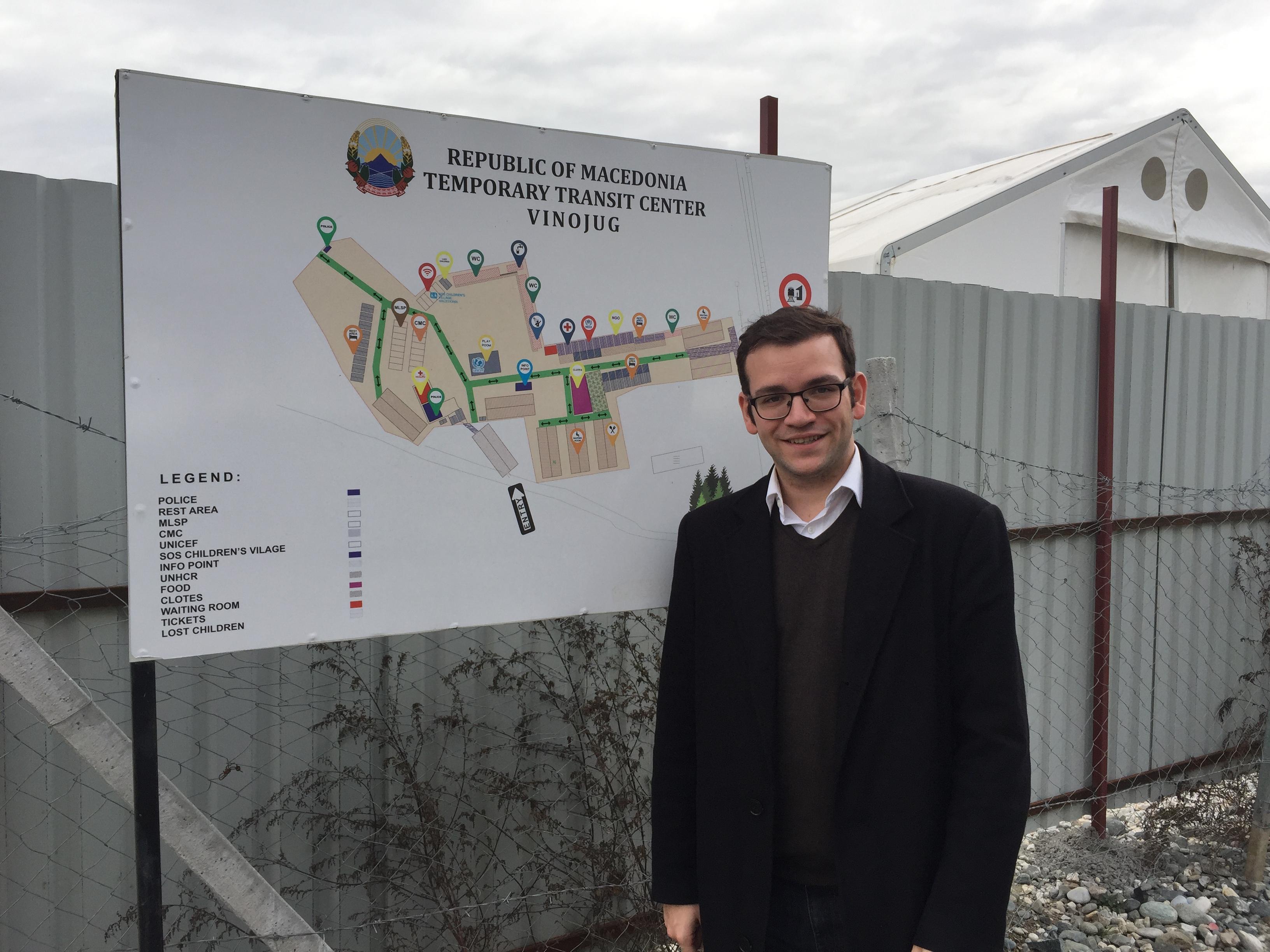 Unser Kreisvorsitzender Markus Oesterlein an der Grenze